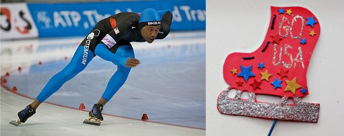 Olympic Ice Skate Craft for Kids: Celebrating Shani Davis