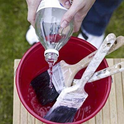 ♥Só idéias♥: Dica esperta:Limpe os pincéis sujos de tinta com vinagre quente.