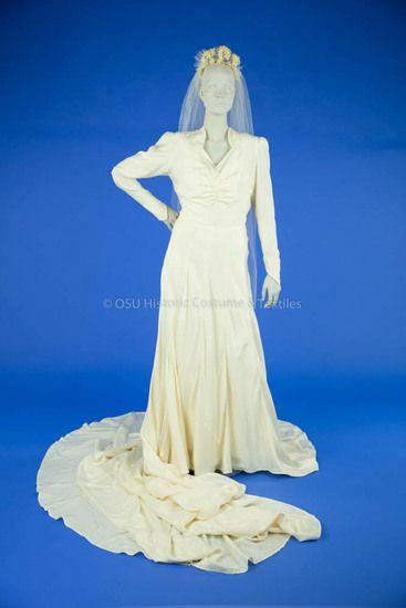 1946 Silk Parachute Wedding Dress