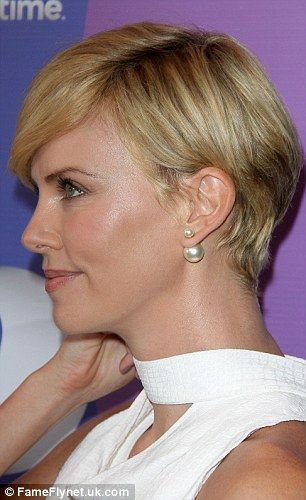 Outstanding 1000 Images About Charlize Theron New Short Haircut On Pinterest Short Hairstyles For Black Women Fulllsitofus
