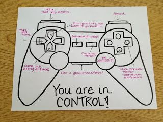 """You are in control"" activity for children/at risk youth. Could also be a great self-harm safety plan activity."