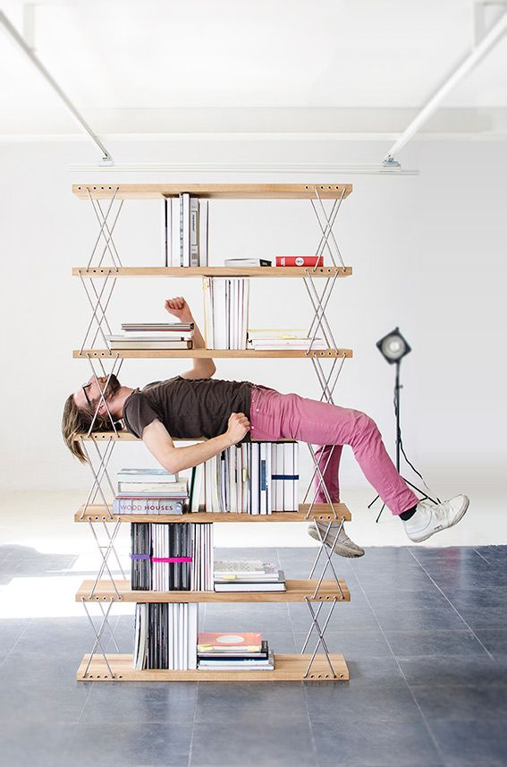 A unique system of connecting shelves with the use of stainless steel fastenings provides for their free configuration horizontally and vertically.#design #workshop #MustHave #Award #Handmad #woodwork #craftsmanship #interiordesign