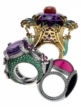 Sultanesque...Chaumet ring...ruby ring..onyx, emerald and diamond amethyst