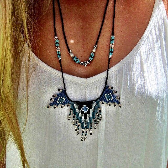 Zoe Kompitsi Macrame bohemian necklace
