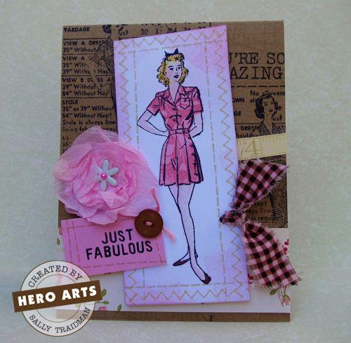 Hero Arts Cardmaking Idea: Fabulous Card!: Cardmak Idea, Handmade Cards Vintage, Cardmak Sewing, Cardmaking Sewing, Handmade Cardsvintag, Handmade Card Vintage, Heroes Art, Art Cardmak, Cardmak Inspiration