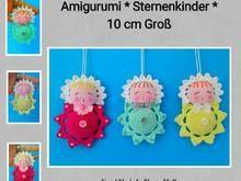 """Anleitung Amigurumi """" Sternenkinder """" 10 cm Groß"""