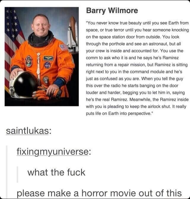 Astronaut horror story funny pics, funny gifs, funny videos, funny memes, funny jokes. LOL Pics app is for iOS, Android, iPhone, iPod, iPad, Tablet
