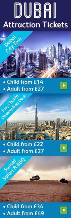 Dubai attraction tickets