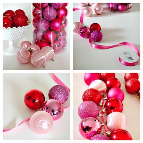 DIY Ornament Garland