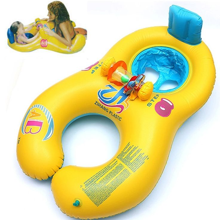 Inflatable double swimming rings float seat