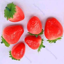 30pcs Fake Strawberry Artificial Fruit Model House Kitchen Party Decorative JJ2834(China (Mainland))