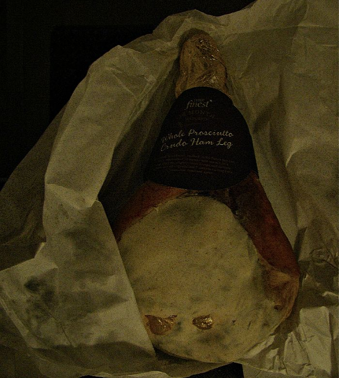 The whole leg of ham