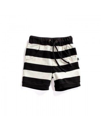 Minti | Hudson Shorts - Black/White Stripe