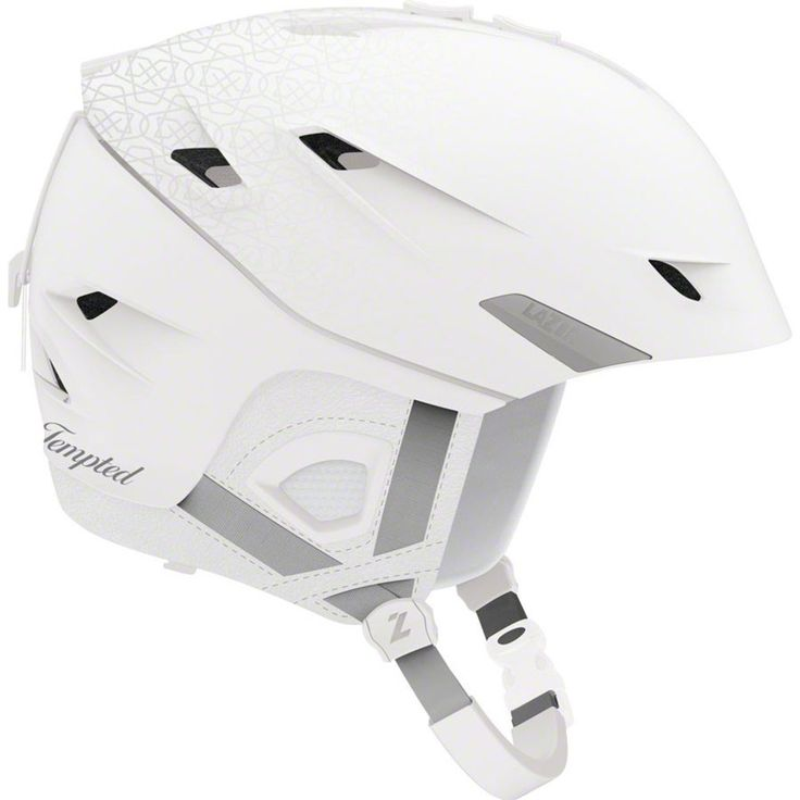 Lazer Women's Tempted Snow Helmet: Matte White Pattern SM. Adapt2 vents with the IN/OUT design assures proper airflow when it's hot and the ability to shut the vents when it's cold. In-mold construction process makes this helmet lightweight. Ear pads are removable for warmer weather and are Wired Audio compatible (add ear buds or speaker pucks inside the ear flap). CE certified. Instantly change the color of this helmet by adding a Color Chic shellSmall fits 52-56cmMedium fits 55-59cm.