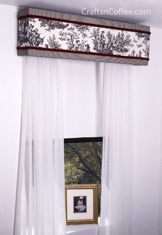 how to make living room window cornices for the home