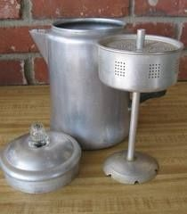 Coffee percolator. My parents had this. I use to like to watch the coffee percolate in the glass top. Smelled so good.