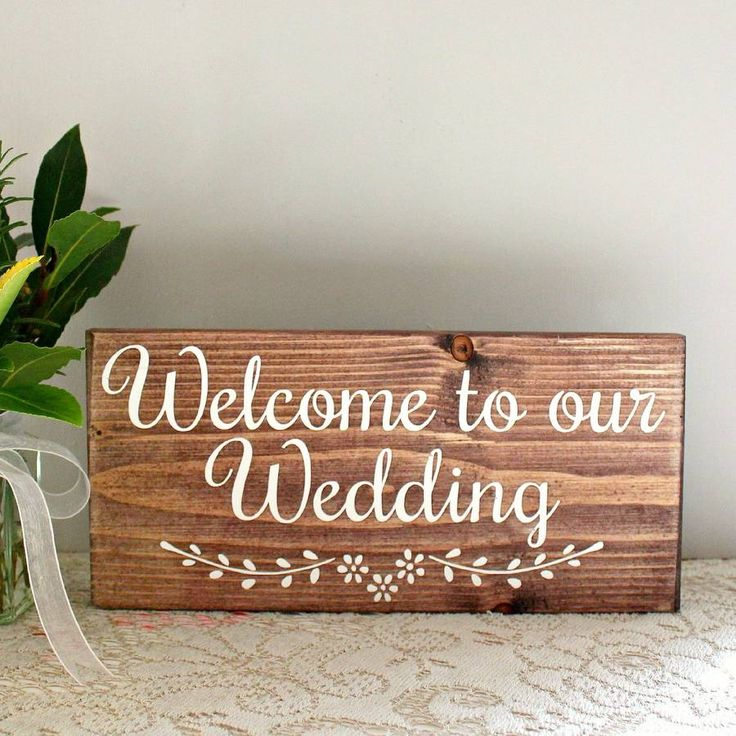 Welcome To Our Wedding Handmade Sign. Our signs are completely made by hand, from scratch, in our workshop near London.