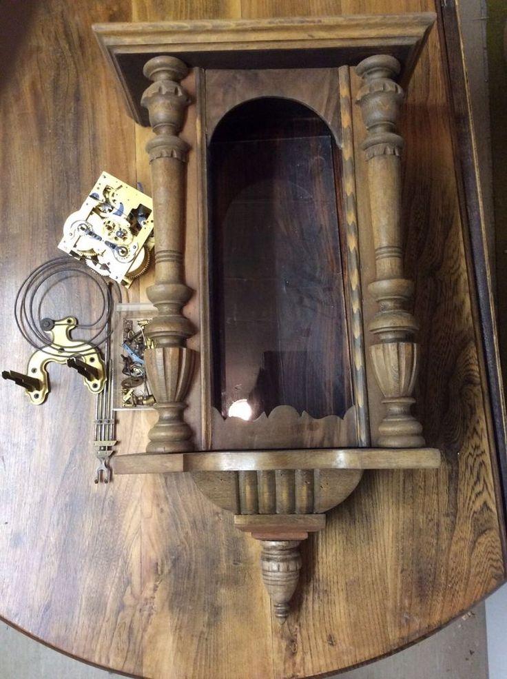Regulator Gehäuse mit Uhrwerk in Antiquitäten & Kunst, Mobiliar & Interieur, Uhren   eBay
