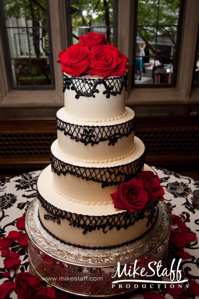 Michigan wedding cake topper