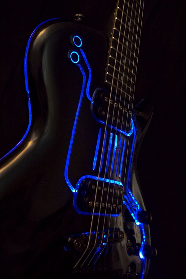Who doesn't like anything that lights up Tron style? [Tron customs guitar build]