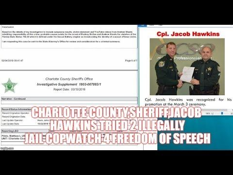 CHARLOTTE COUNTY,SHERIFF,JACOB HAWKINS TRIED 2 ILLEGALLY JAIL