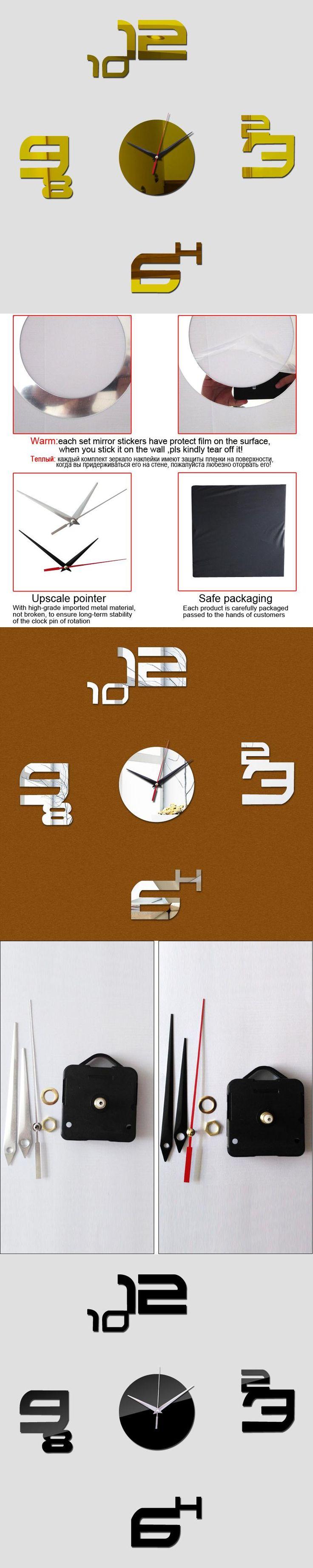 2016 DIY creative home fashion digital wall clock struck decoration art mirror wall clock sitting room wall clock
