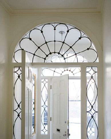 Leaded Glass Surround, absolutely gorgeous, also love the double entry