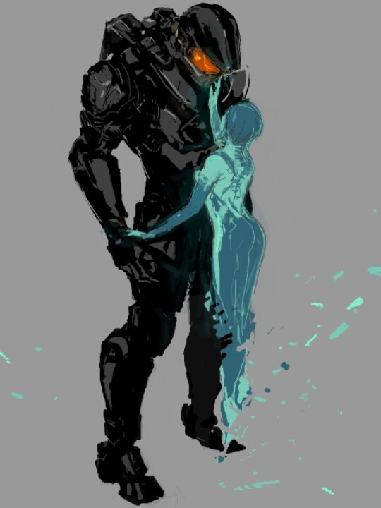 Cortana and master chief Auction your comics on http://www.comicbazaar.co.uk