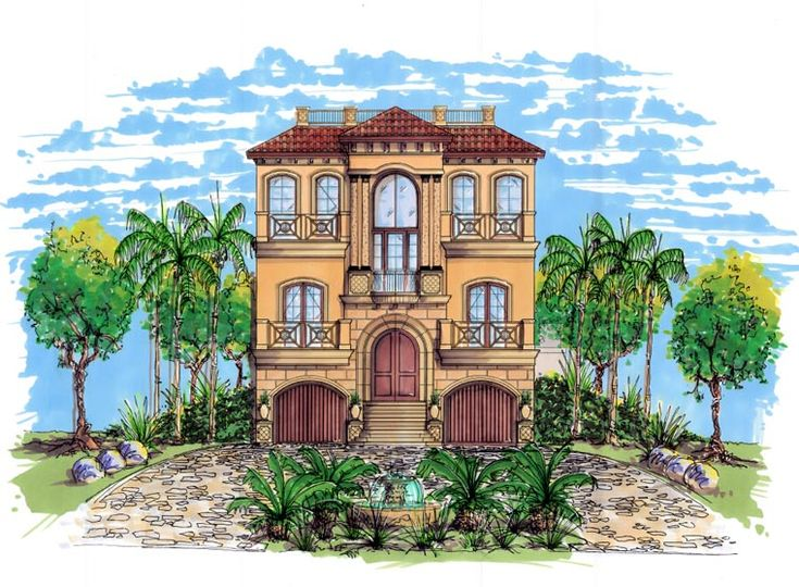 Mediterranean House Plan chp-53046 at COOLhouseplans.com ...