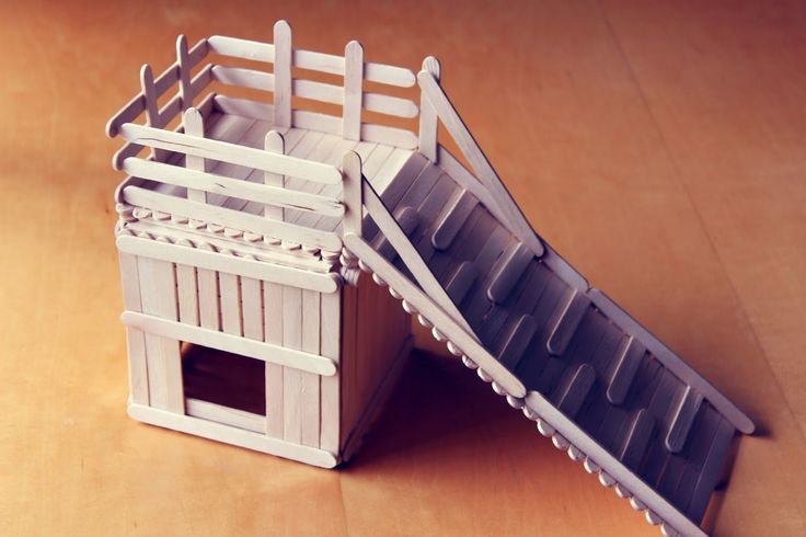Hamster popsicle stick house