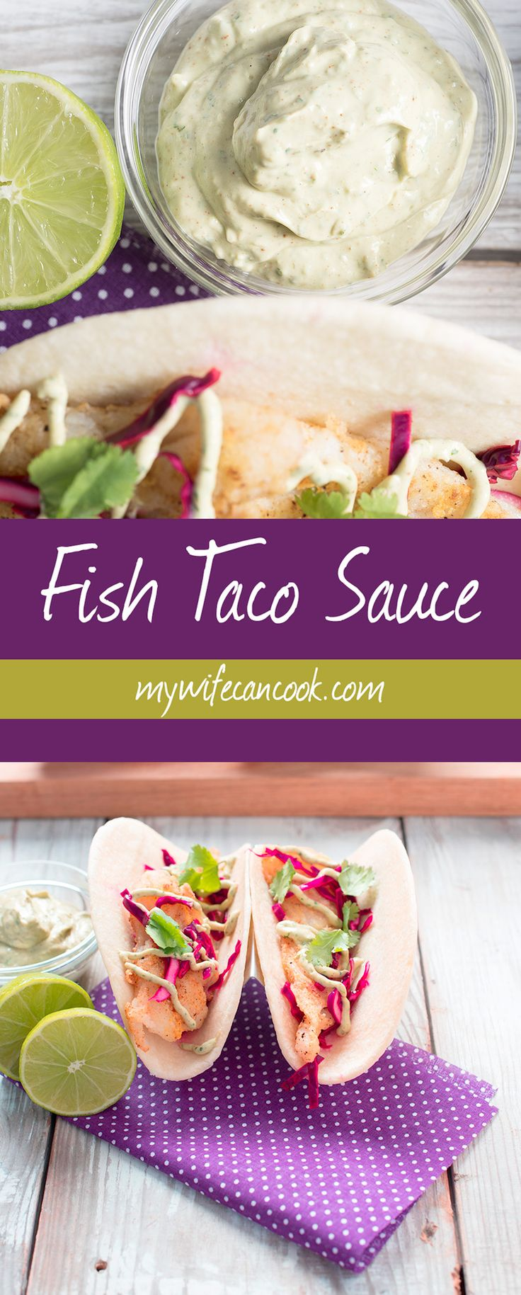 We are in love with this fish taco sauce. If you have a fish taco obsession like we do then you know that a great fish taco sauce is an absolute must when making your own homemade fish tacos. This fish taco sauce is a blend of sour cream and avocado with cilantro, lime juice, chili powder, chipotle chili powder, and cumin. It's so good! Best of all it's super easy to make and goes great on more than just tacos. But it's an absolute must for fish taco lovers.