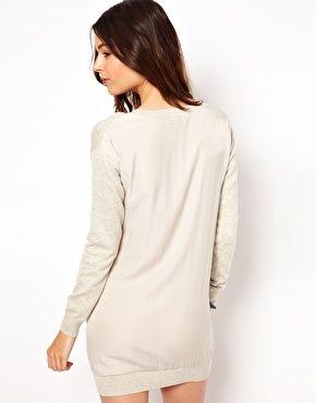 ASOS Pulloverkleid mit gewebter Rückseite