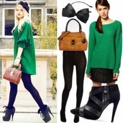 С кофтой какого цвета носить зеленые брюки