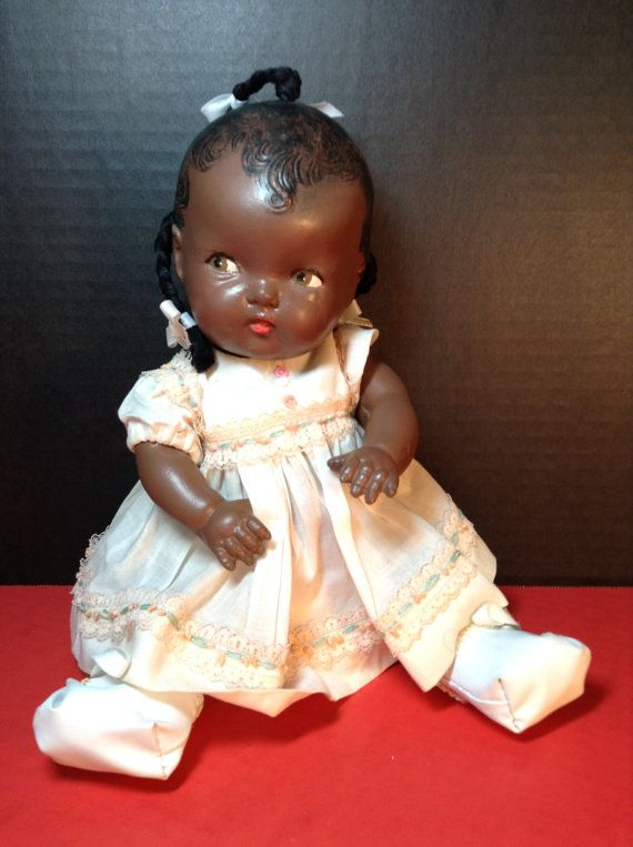 Composition African American Baby Doll 12 Inches 1960s