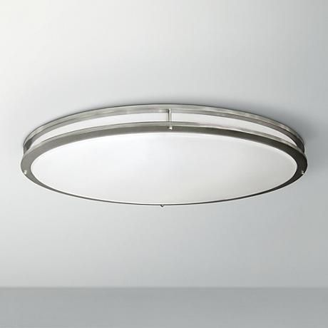 "Nickel Oval 32 1/2"" Wide LED Ceiling Light KITCHEN?"