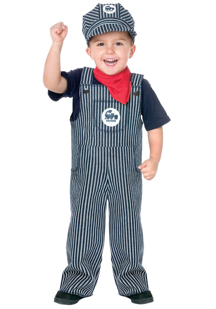 toddler train engineer costume train engineer toddler costume cute railroad conductor costume includes overall neck scarf and engineer hat - Pictures Of Halloween Costumes For Toddlers