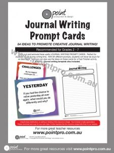 Print, cut and laminate these useful JOURNAL WRITING PROMPT CARDS.