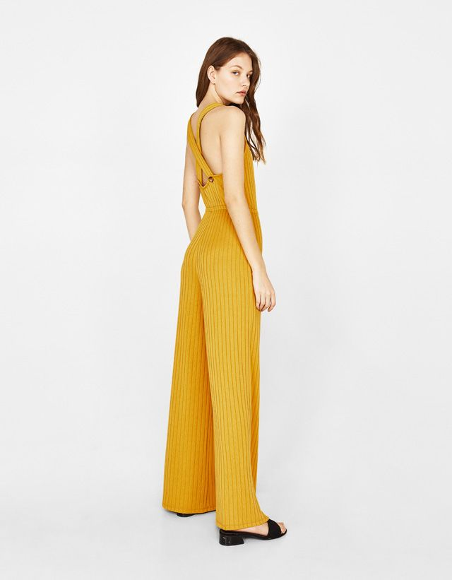 bf35be6e42 Ribbed jumpsuit - Bershka  fashion  product  newin  trend  trendy  jumpsuit   dress  summe  spring  cool  girl