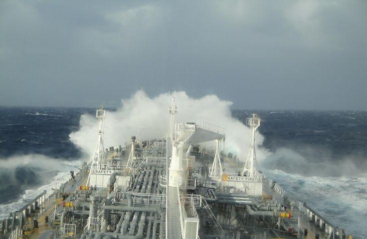 Tanker Ship Heading Towards Ecuador in South Pacific Ocean by Sohit Shukla