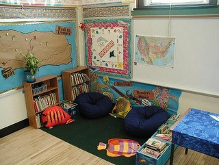 That's was what my reading area was like until I had to take everything home since the Admin feared lice!