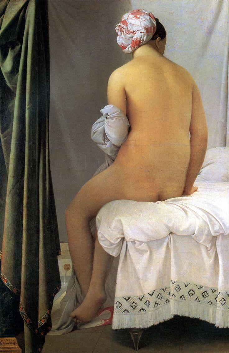 ARTE ROMANTICA: Donna al Bagno - Jean-Auguste-Dominique Ingres (artista francese) - 1814. Museo del Louvre, Parigi.