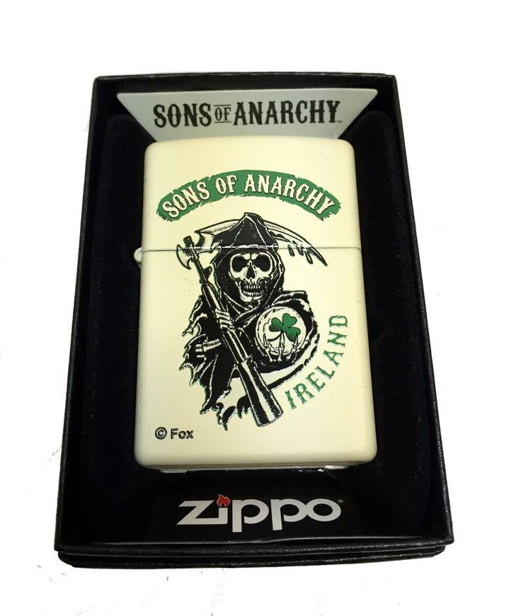 Zippo Custom Lighter - Sons of Anarchy Ireland Grim Reaper - Regular C – hatshark