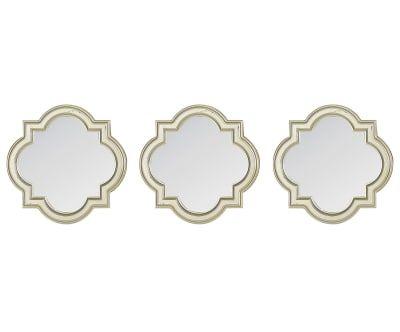 Набор из 3 зеркальных панно Geometry