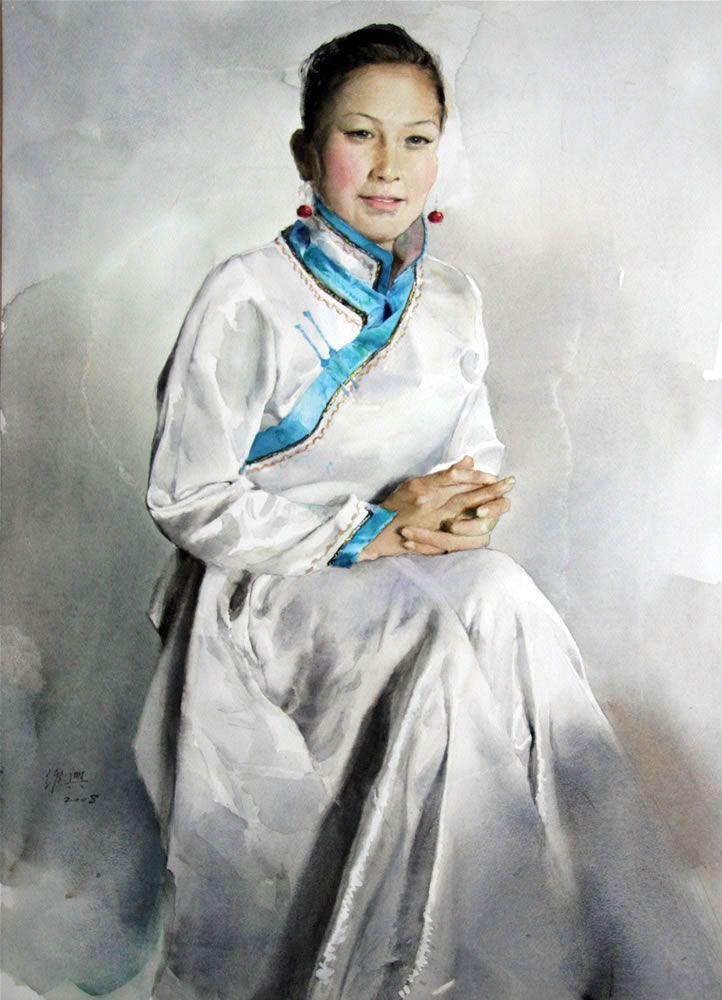 портрет акварелью из фото в гимпе приготовления
