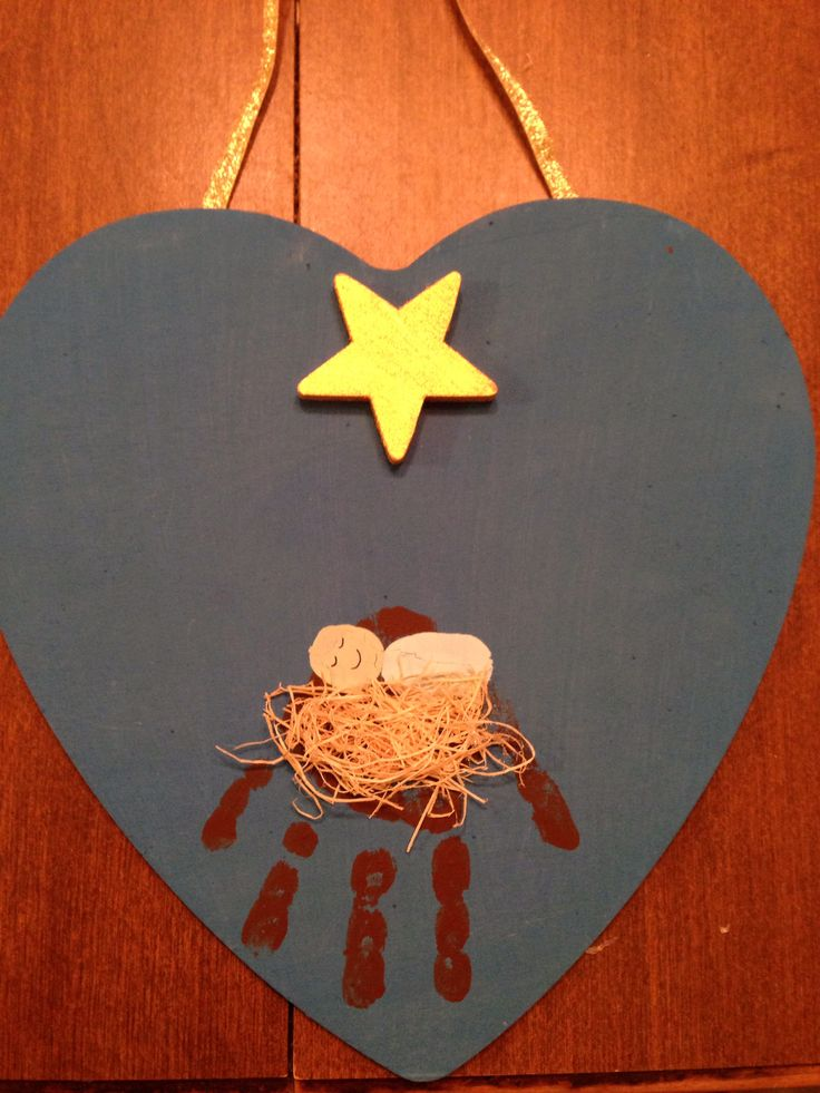 Handprint Manger on heart