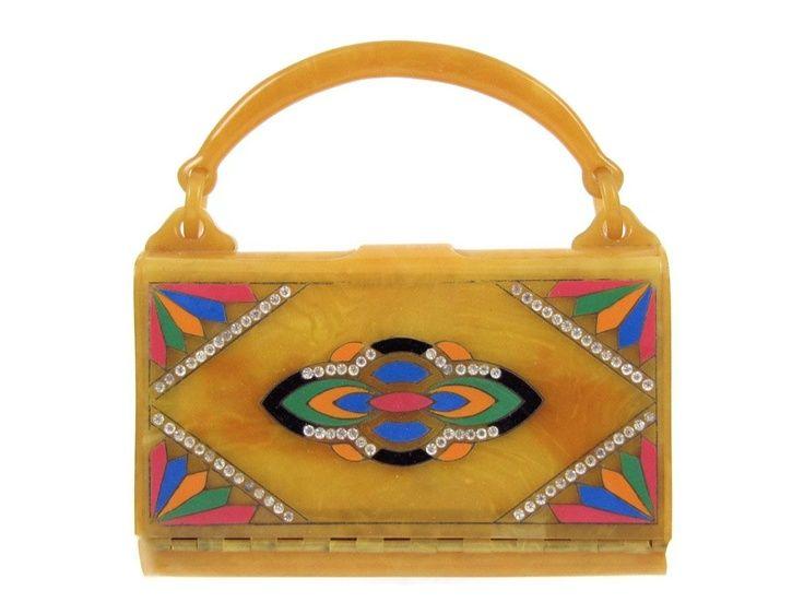 Ephemeral Elegance   Bakelite Box Purse, ca. 1930s via Orbiting Debris...