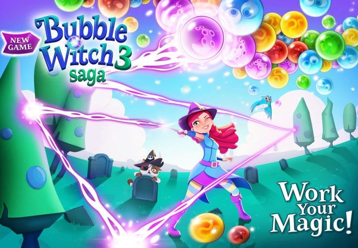 In Bubble Witch 3 Saga players will travel the realm, popping as many bubbles as they can against the clock across a huge number of different levels. #games #android #gaminglife #pro #puzzle #awesome #cool #iOS