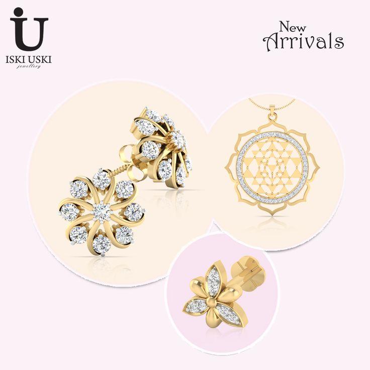 We have sparkling diamond jewellery for all occasions!!.#DiamondEarring #DiamondJewellery #indianjewellery #IskiUski