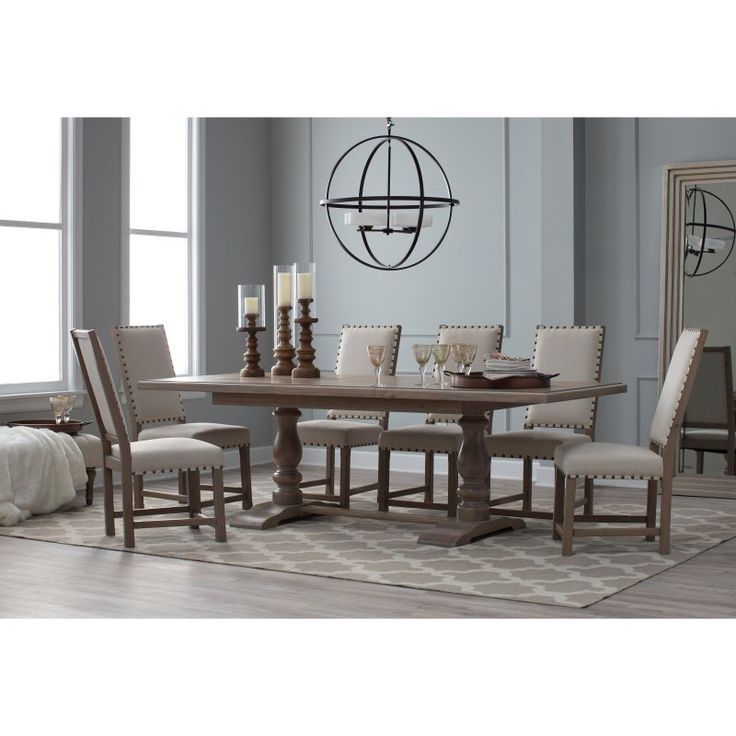 Belham Living Kennedy Trestle Extension Dining Table - CS-91180