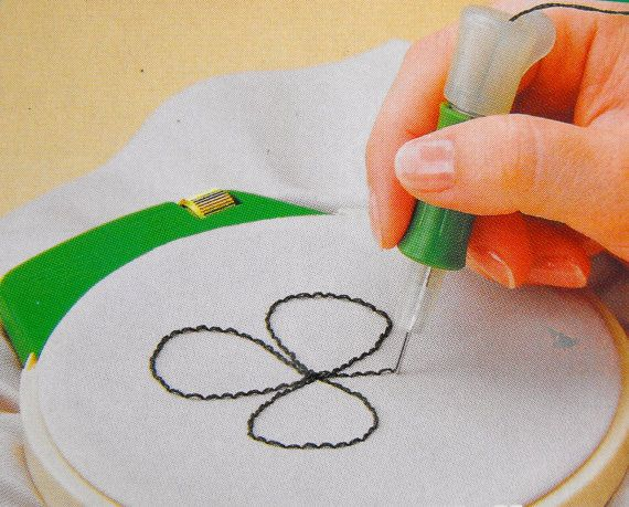 Clover Punchneedle Embroidery Tool by primitivespirit on Etsy